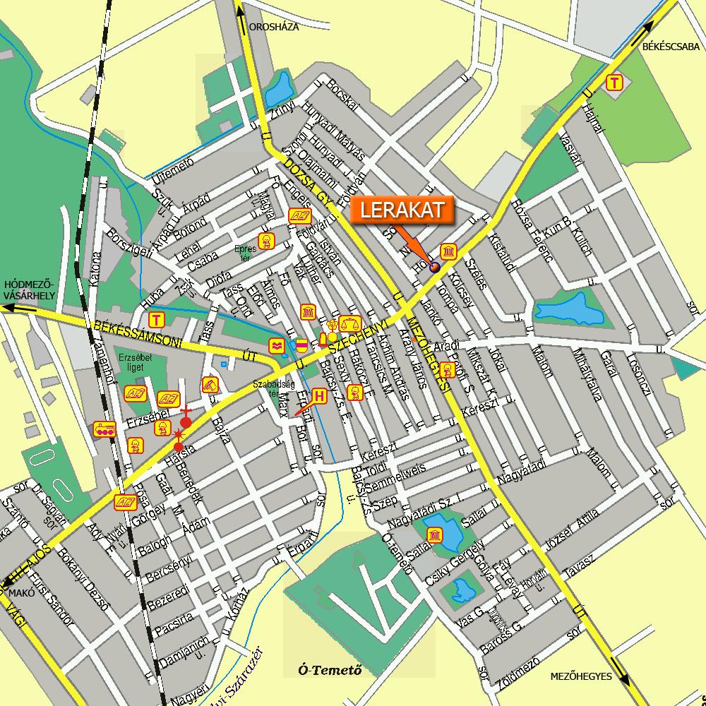 tótkomlós térkép Omega Gránit Kereskedés   Elérhetőség tótkomlós térkép